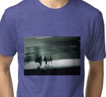 Cyclists at Dusk Tri-blend T-Shirt