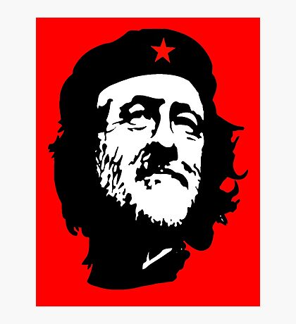 CORBYN, Comrade Corbyn, Leader, Labour Party, Politics, Black on RED Photographic Print