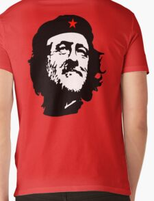 CORBYN, Comrade Corbyn, Leader, Labour Party, Black on RED Mens V-Neck T-Shirt