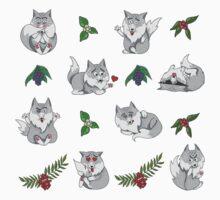 Wolves And Berries Kids Tee