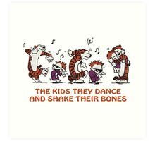 calvin and hobbes Dance Art Print