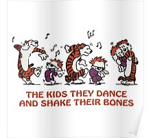 calvin and hobbes Dance Poster