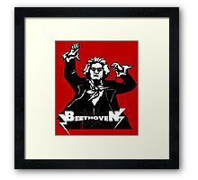Metal Beethoven II Framed Print