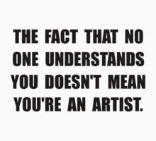 Understand Artist Kids Tee