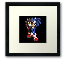 sonic and shadow Framed Print