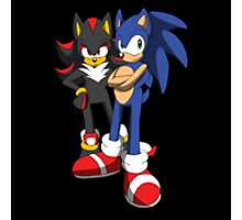 sonic and shadow Photographic Print