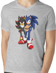 sonic and shadow Mens V-Neck T-Shirt