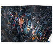 Times Square Nightlife Poster