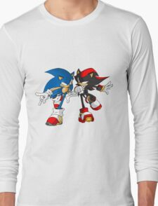 sonic and shadow Long Sleeve T-Shirt
