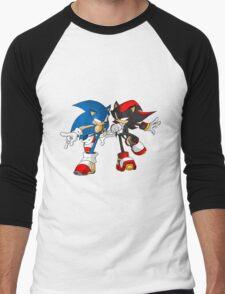 sonic and shadow Men's Baseball ¾ T-Shirt