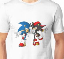 sonic and shadow Unisex T-Shirt