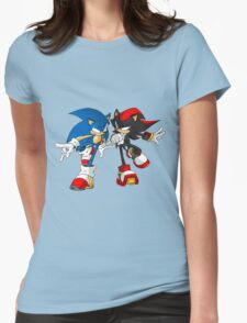 sonic and shadow Womens Fitted T-Shirt