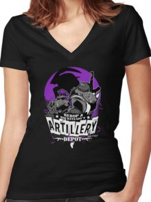 Double Trouble Ammo Women's Fitted V-Neck T-Shirt