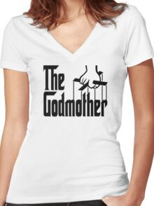the godmother Women's Fitted V-Neck T-Shirt