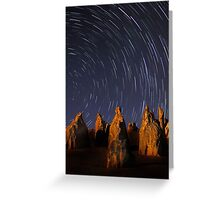 Star Trails At The Pinnacles  Greeting Card