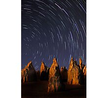 Star Trails At The Pinnacles  Photographic Print