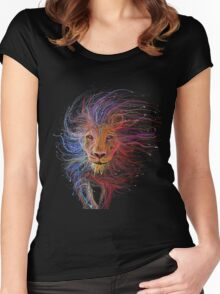 Lion cap Women's Fitted Scoop T-Shirt