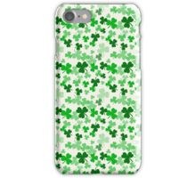 St Patrick Clovers lucky Chance Shamrock Trefle Pencil Skirt  iPhone Case/Skin
