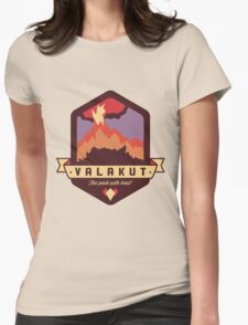 Valakut - The peak with heat! Womens Fitted T-Shirt