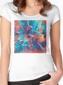 Abstract 27 Women's Fitted Scoop T-Shirt
