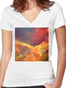 Abstract 22 Women's Fitted V-Neck T-Shirt