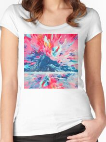 Abstract 26 Women's Fitted Scoop T-Shirt