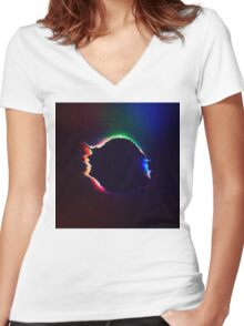 Abstract 15 Women's Fitted V-Neck T-Shirt
