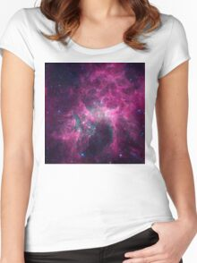 Galaxy universe Women's Fitted Scoop T-Shirt