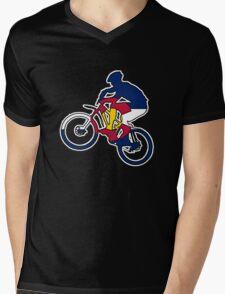 Colorado flag mountain biker Mens V-Neck T-Shirt
