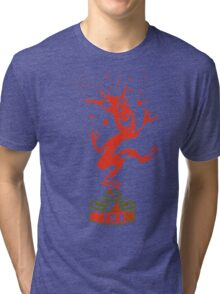 Red Ink Bottle Imp Tri-blend T-Shirt