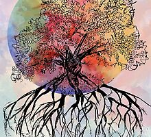 Watercolor Tree by HannahJConti