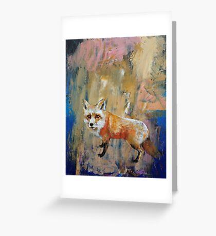 The Fox Greeting Card