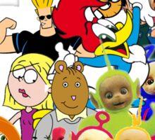 90s Cartoon Charecters Sticker
