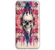Seeing color, melting floral skull iPhone Case/Skin