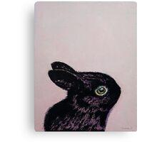 Black Bunny Canvas Print