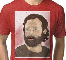 Rick Grimey Grimes The Walking Dead  Tri-blend T-Shirt