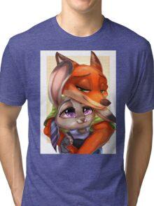 Zootopia - Nick x Judy Tri-blend T-Shirt