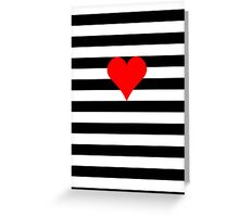 love & stripes Greeting Card