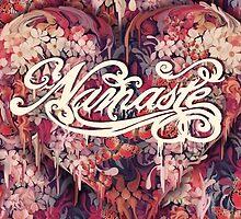 Namaste Floral Heart by KristyPatterson