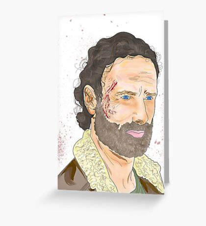 Rick Grimes, The Walking Dead Greeting Card