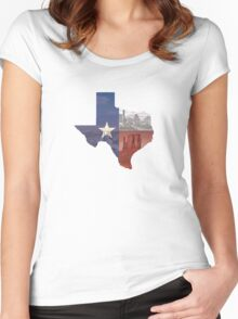 Texas Flag Women's Fitted Scoop T-Shirt