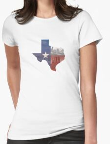 Texas Flag Womens Fitted T-Shirt
