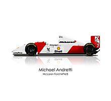 Michael Andretti - McLaren Ford MP4/4 Photographic Print