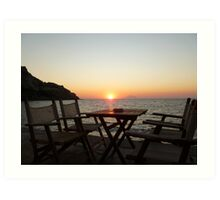Sit down and enjoy the sunset! Art Print