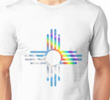 Rainbow sky Zia symbol Unisex T-Shirt