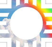 Rainbow sky Zia symbol Sticker