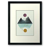 Calm&storm Framed Print