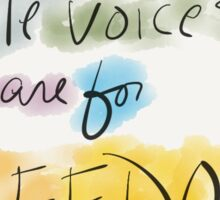 Little Voices are for Freedom - Sticker Sticker