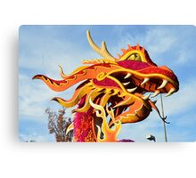 Dragon Chinese Mushu Fire Breathing Canvas Print