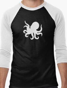Octopus Silhouette White Men's Baseball ¾ T-Shirt